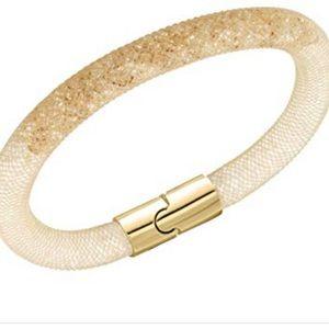 Swarovski Stardust Crystal Bracelet White and Gold